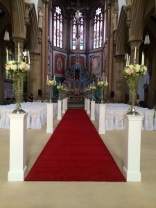 The Monastery Manchester columns available to hire