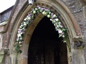 Church flowers stunning!