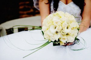 Beautiful Calla lilies and Roses